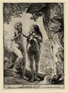 Adam en Eva Rembrandt Hanskenn