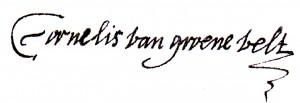 De handtekening van Cornelis van Groenevelt onder zijn verweer.